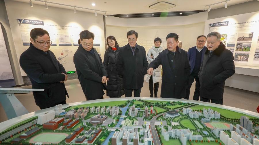 杭州市人大changweihui领导一xing来xiao调研